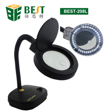 BST 5x/10x Table Lamp Magnifying Glass with Light