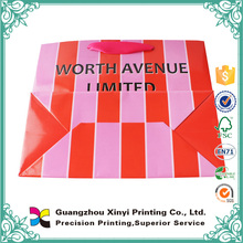 High quality china supplier printing handmade cardboard paper shopping bag
