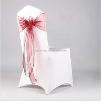 disposal one time use organza sash for wedding /party deco