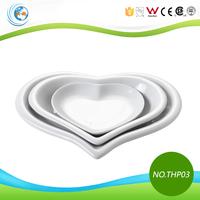 3Pcs Heart Shape Ceramic Dinner Plates for Weddings
