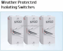 4 pole 35a IP66 weather protected isolating switches