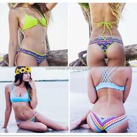 2015 Factory direct sale Newest Hot sexy colorful Brazilian bikini