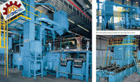 dust collect made in QIngdao Hot Sale Steel Bar Automatic Blast Machine/Concrete Iron Descaling