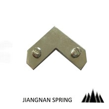 low carbon steel tapped angles/ corner iron/ stamping part