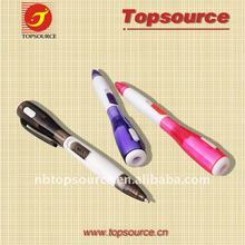 Hot Sale Mini Cheap Plastic Portable Pocket Cute Clip Ball Pen with LED Light for promotion