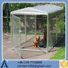 Baochuan powder coating galvanized wrought iron dog kennel/pet house/dog cage/run/carrier