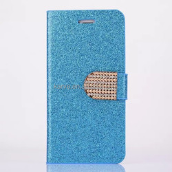 new arrival diamond mirror PU cellphone case