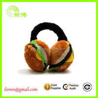 Winter Warm Burger Plush Earmuffs