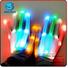 led flashing gloves with rave light for Christmas and Halloween