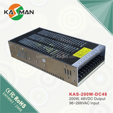 KAS-200W-48 200W 48V 4.2A Switch Mode Power Supply High Voltage Power Supply