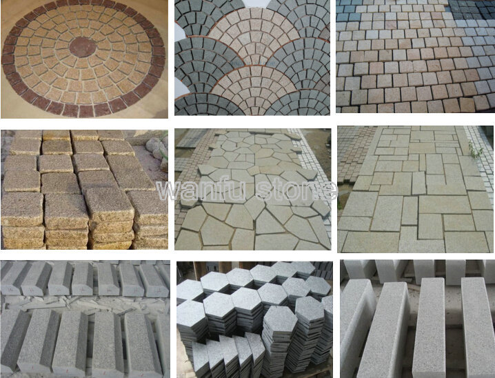 Chino granito bordillo de piedra con acabado pulido for Adoquines para jardin precio