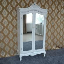 2015 new design wooden antique white wardrobe