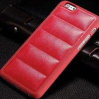"""Online top 10 items PU leather phone 5.5"""" case for Iphone 6 Plus plastic back soft like sofa"""