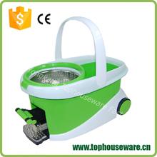 Green and white Microfiber Hurricane rotating Spin magic Mop