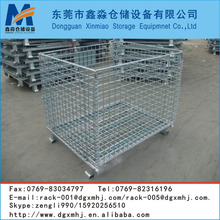 Q235 cold-rolled steel folding and stacking heavy duty wire mesh container