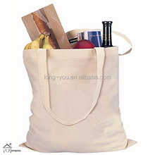 100% Cotton reusable blank tote bags recycled cotton bag