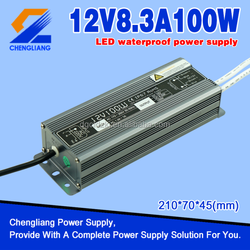 Constant Voltage Waterproof Electronic LED Driver 100W 12V IP67 Approved with CE FCC ROHS