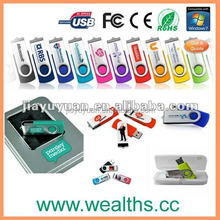 Hotsale Twist USB Stick 2.0 with Custom Logo+Optional Color