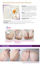 SPF 30 whitening nano block face skin cream in china