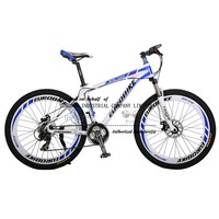 Mechanical double disc brake 26inch aluminum 6061 mountain bicycle, XC level