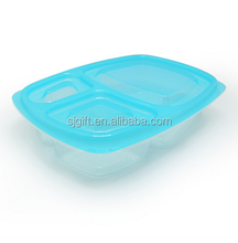 Fashional Plastic Transparent Lunch Boxes square Lunch Box with lid/bento with cover