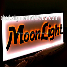 illuminated metal and acrylic LED outdoor used sign board manufacture in guangzhou
