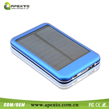 New External Battery Charger Dual USB 5600mAh solar power bank Pack Charger