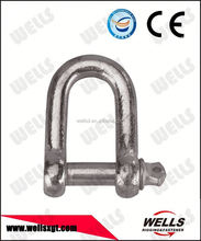 Factory supply marine hardware screw pin d type chain shackle