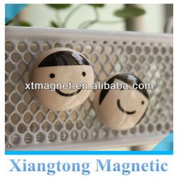 Hot Sale ! Mini Fancy Lovely Face Ceramic Tile Fridge Magnet for Promotion