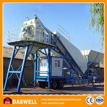 china daswell 25m3 / h de asfalto portátil acarreo planta central de mezcla de hormigón
