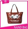 New arrival elegant name brand women handbag genuine leather 2015 pure leather lady handbags bulk wholesale handbags from China