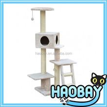 Wholesale sheepskin Large Cat Tree House,Cat Scratching Tree,Climbing Cat Tree modern house