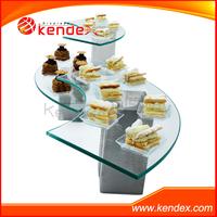 acrylic bread cake display rack