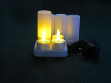 Bright Top Selling yellow flickering Flicker LED Tealight Candle