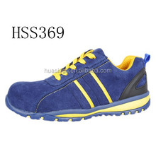 SY,UK popular fashinable style anti-shock running shoes/sport safety trainer with suede leather