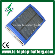 Dual USB 10000MAh External Battery Charger Solar Power Bank Pack Charger Blue