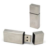Metal Rectangle USB Flash Drive For Preminum 128MB-16GB