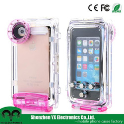 taking picture transparent plastic waterproof cell phone case for iphone 5 6