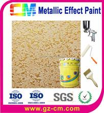 Metallic paint- golden color decorative paint for interior & exterior wall