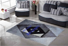 colourful series gray diamond pattern leather and 100% polyester design, hotel, bedroom, decorative carpet