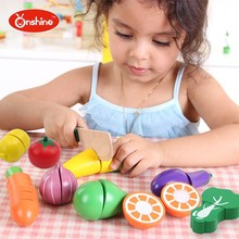Garden Vegetables and Fresh Fruit Wooden Cutting Toy