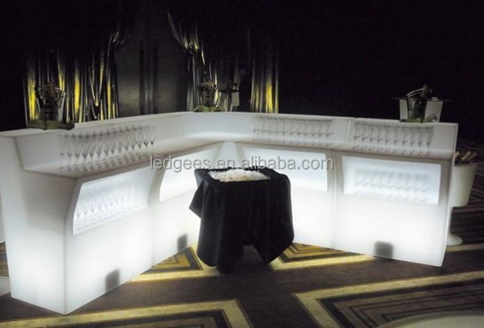 Led licht bar event meubels tafels hoge bier wijn interactieve bar tafel plastic tafels product - Huis bar ...