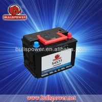 BULLSPOWER 12V45ah DIN mf Car battery,mf45ah car battery for Auto
