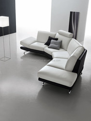 Modern half round shaped leather couch sofa for sale