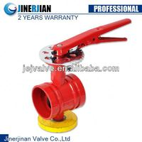 Grooved Butterfly Valve Gear Operated,Gear Actuator Butterfly Valve