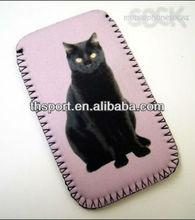 Black Cat Mobile neoprene phone pouch, sock, cover, case