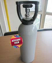 Nitrogen gas cylinder, 4L Aluminum cylinder with valve and handle