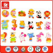 18 pcs environment and safety kids fine burnish without any blut learning wood magnets toys puzzles wooden magnet fridge