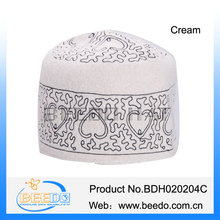 Hot selling embroidery white knit kufi skull cap