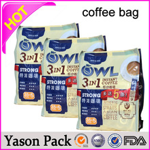 Yason customized printing heat seal 250gram size roasted coffee bags empty coffee bags foil lined kraft paper coffee bags